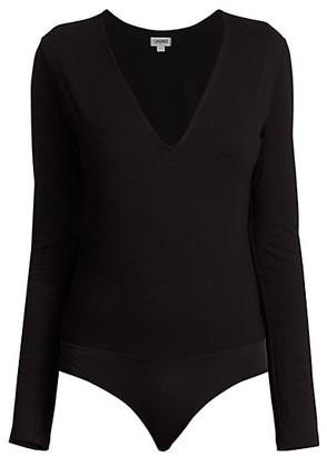 L'Agence Nikki Long-Sleeve Bodysuit