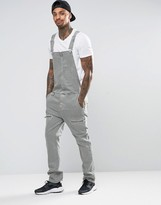 Asos Dungarees In Light Khaki With Biker Styling