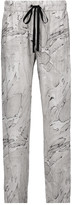 Enza Costa Printed voile tapered pants