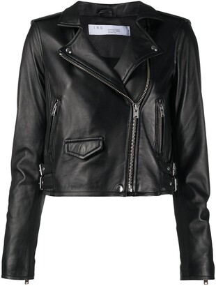 IRO Cropped Zip-Up Biker Jacket