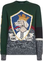 Dolce & Gabbana Royal Motif Colour-block Sweater
