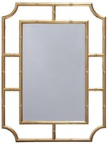 The Well Appointed House Worlds Away Marian Bamboo Frame Wall Mirror in Gold Leaf