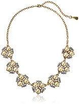 "Yochi Pearl Floral Necklace, 17"" + 3"" Extender"