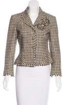 Chanel Camellia Tweed Blazer