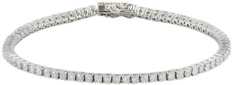 Artisan Tennis Bracelet Fixed & Flexible With Natural Diamonds In 14K White Gold