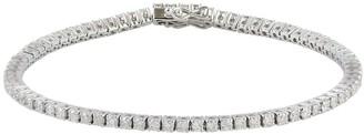 Artisan Tennis Bracelet Fixed & Flexible With Natural Diamonds In 14K White Gold