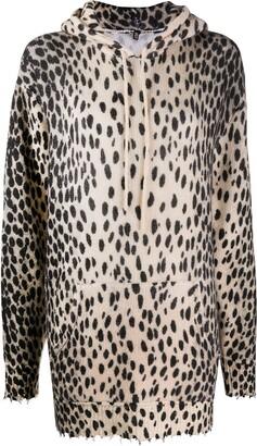 R 13 Cheetah Print Cashmere Jumper
