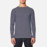 Armor Lux Men's Sailor Shirt Long Sleeve Top Navire Blanc