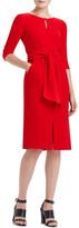 Lafayette 148 New York Jolie Wrap Bodice Crepe Dress
