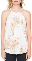 Willow & Clay Floral Print Halter Shirt