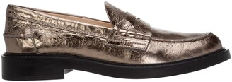 Tod's Metallic Slip-On Loafers