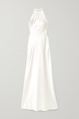 Les Rêveries Silk-charmeuse Halterneck Gown - Ivory