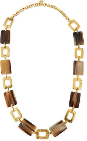 Ashley Pittman Bustani Light Horn Link Necklace
