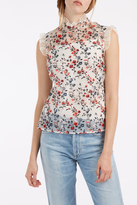 Erdem Mika Embroidered Top