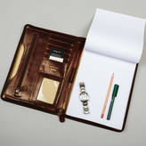 STUDY Maxwell Scott Bags Luxury A4 Leather Conference Folder.'The Dimaro'