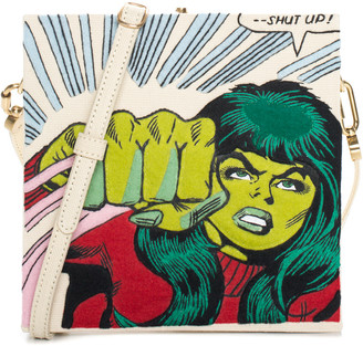 Olympia Le-Tan Green Canvas Shut Up Book Clutch, Never Carried