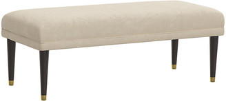 One Kings Lane Alameda Faux-Leather Bench - Taupe