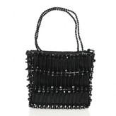Swarovski excellent (EX Black Vertical Beaded Square Mini Evening Bag