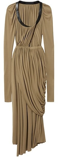Proenza Schouler Jersey Draped Pleated Midi Dress