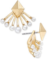 INC International Concepts Gold-Tone Imitation Pearl Earring Jackets, Only at Macy's