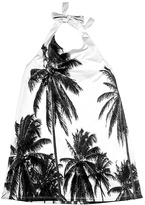 Urban Smalls Black & White Palms Halter Dress - Toddler & Girls