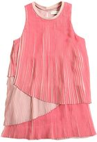 Stella McCartney Tiered Plisse Georgette Party Dress