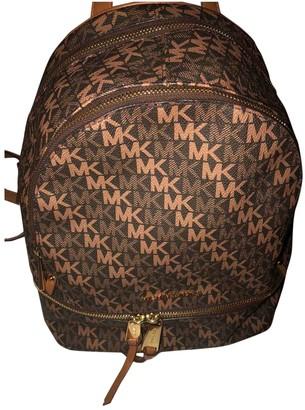 Michael Kors Brown Leather Backpacks