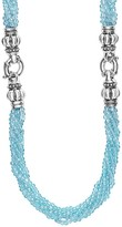 Lagos Sterling Silver Maya Escape Blue Apatite Convertible Bracelet and Necklace, 26""