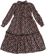 Ermanno Scervino Floral Printed Viscose Twill Long Dress