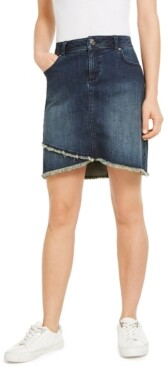 INC International Concepts Inc Tulip-Hem Jean Skirt, Created for Macy's