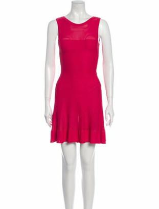 Alaia Scoop Neck Mini Dress w/ Tags Pink