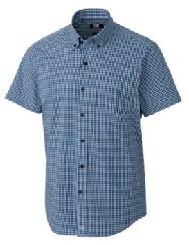 Cutter & Buck Men's Big & Tall Anchor Gingham Short Sleeve Shirt