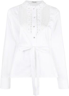Miu Miu front bib shirt