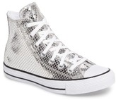 Converse Women's Chuck Taylor All Star Metallic Snake High Top Sneaker