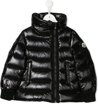 Moncler off-centre zipped jacket