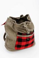 BDG Plaid Drawstring Backpack