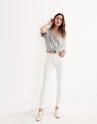 """Madewell 9"""" Mid-Rise Skinny Jeans in Pure White"""