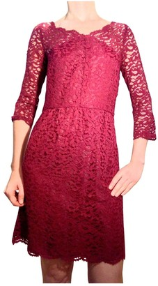 The Kooples Burgundy Lace Dress for Women