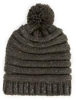 Sole Society Ribbed Knit Beanie w/ Pom