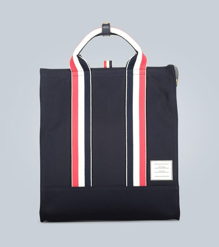 Thom Browne Grosgrain stripe tote bag