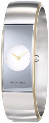 Jacob Jensen Womens Analogue Quartz Watch with Stainless Steel Strap JJ481