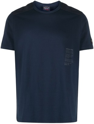 Paul & Shark Typhoon slogan print cotton T-shirt
