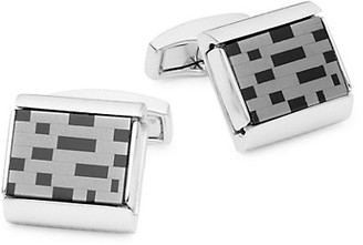 Tateossian Black Agate Square Cufflinks
