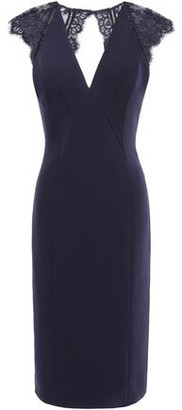 Catherine Deane Open-back Cady And Lace Dress