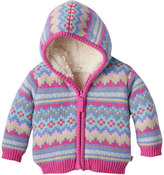 Cuddl Duds Baby Girl Fairisle Sherpa-Lined Hoodie