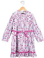 Oscar de la Renta Girls' Floral Print Belted Dress