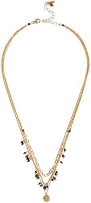 Chan Luu 18-karat Gold-plated Sterling Silver, Pietersite And Spinel Necklace