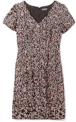 Vince Camuto Sequin Flutter-sleeve Dress