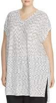 Eileen Fisher Plus Line Print Tunic