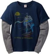 Junk Food Clothing Batman A Hero Never Sleeps Two-Fer Tee (Little Boys & Big Boys)